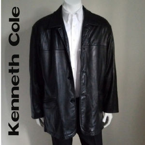 Reaction Kenneth Cole Lam Leather Jacket- Large